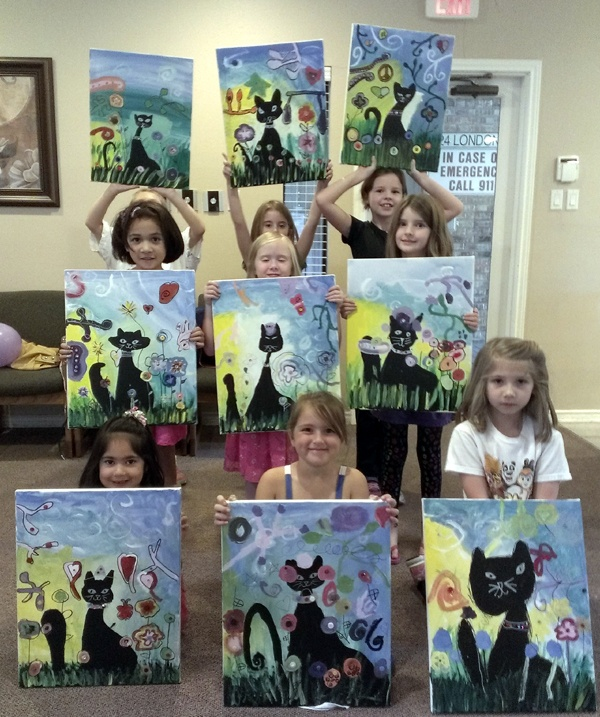 kids birthday painting party