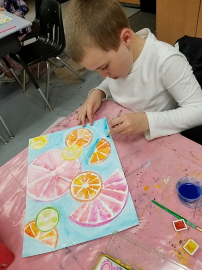 watercolor class kids
