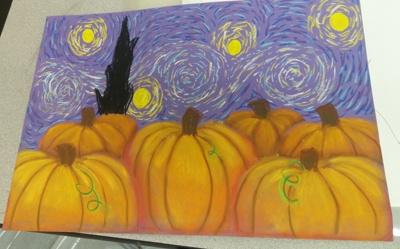 pastel art class