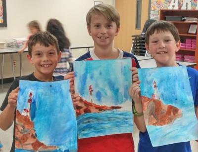 boys watercolor class