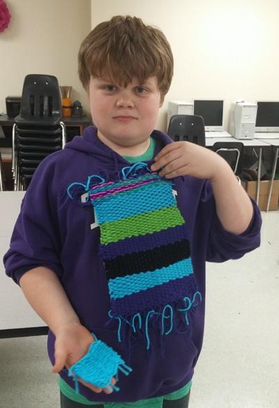 weaving elementary art